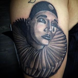 Clown Chicano Tattoo
