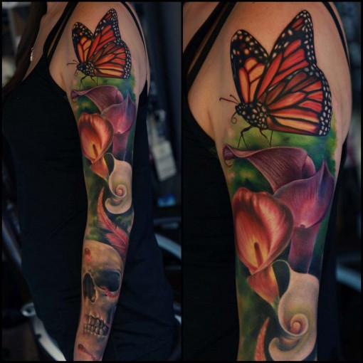 tattoo sleeve colorful