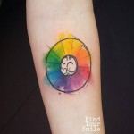 Colour Palette Circle Tattoo