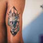 Crowned Skull Tattoo
