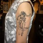 Dancers Tattoo on Shoulder