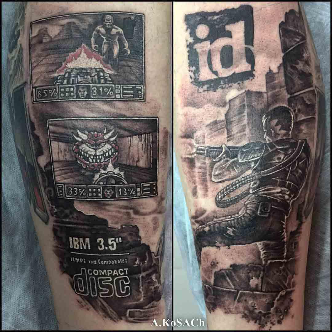 Game Doom Tattoo Tribute