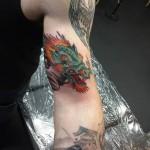 Dragon Bicep Tattoo
