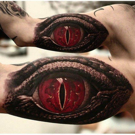 Dragon Eye Tattoo by shevboxtattoo