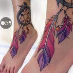 foot tattoo dreamcatcher