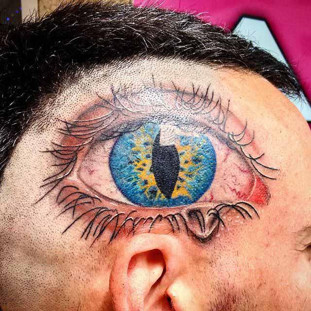 Eye Tattoo on Head