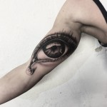 Eye Tear Tattoo
