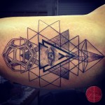 Eye of Providence Tattoo on Bicep