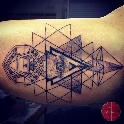 Eye of Providence Tattoo on Bicep by regperez