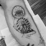Ferris Wheel Tattoo