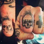 Finger Skull Tattoo Cover Up