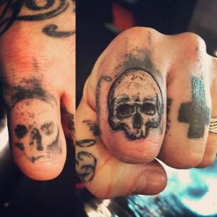 Finger Skull Tattoo Cover Up