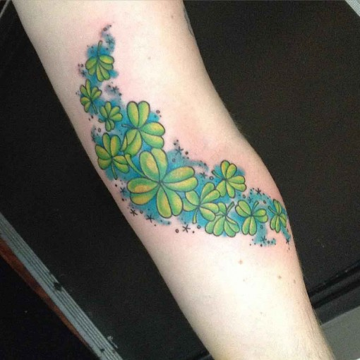 Four Leaf Clover Magic Tattoo