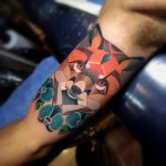 Fox Art Tattoo by tattoosbysantiago3