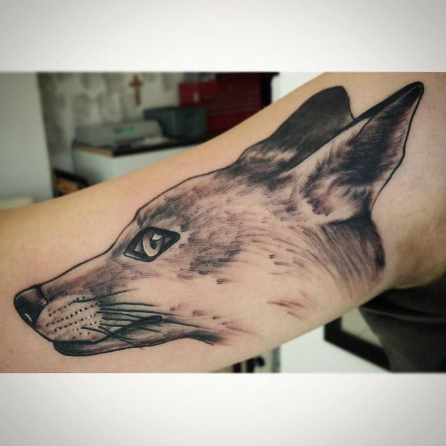 Fox Face Tattoo