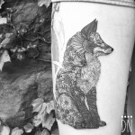 Fox Made of Flowers Tattoo