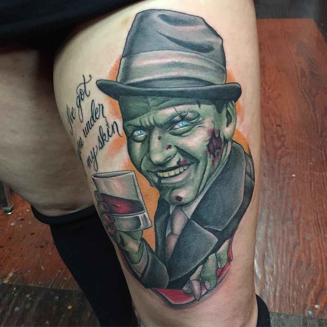 Frank Sinatra Portrait tattoo new school