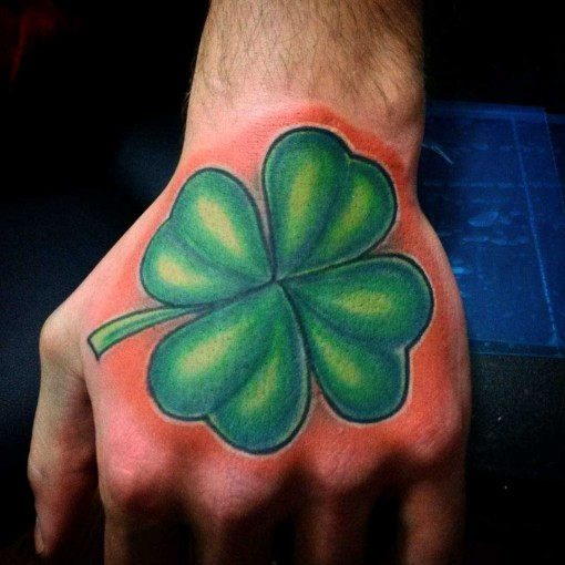Hand Four Leaf Clover