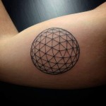 Geometric Bicep Tattoo Ball
