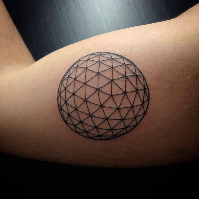 Geometric Bicep Tattoo Ball by wildcatinknorth
