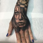 Girl Hand Tattoo