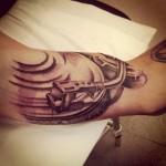 Gramophone Bicep Tattoo