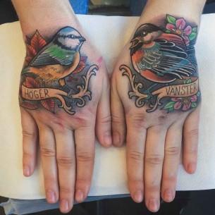 Hand Tattoos Bird
