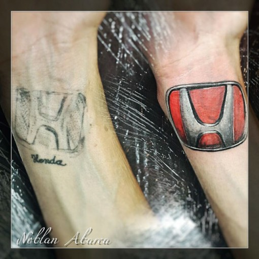 Honda Tattoo Cover Up by Noblan Abarca
