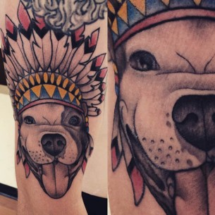 Indian Dog Tattoo