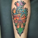 Indian Leg Tattoo
