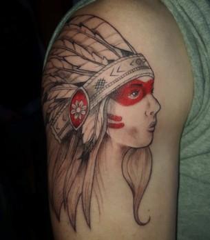 Indian Tattoo Girl by Dana Morse