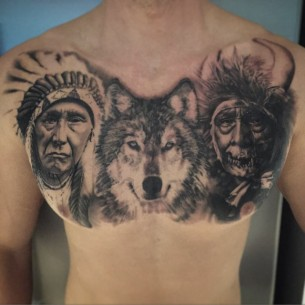 Indian Tattoo on Chest