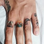 Indian Tattoos on Fingers