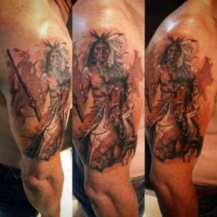 Indian War Chief Tattoo