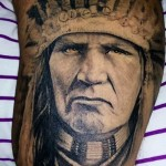IndianIndian Face Tattoo