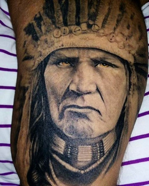 IndianIndian Face Tattoo by Saulo Brandao