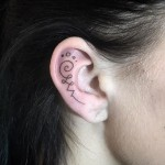 Inner Ear Tattoo