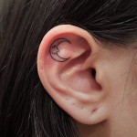 Inside Ear Tattoo