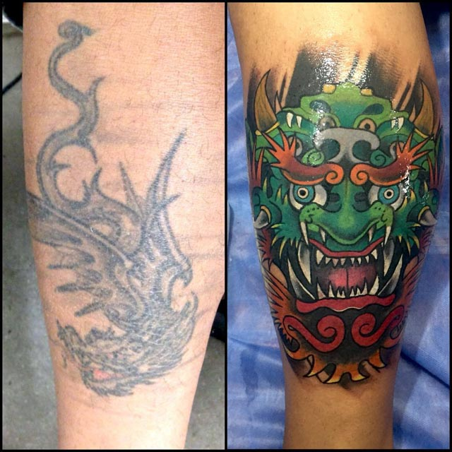 Japanese Cover Up Tattoo by diego vinasco2