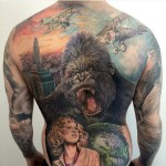 full back King Kong Movie tattoo