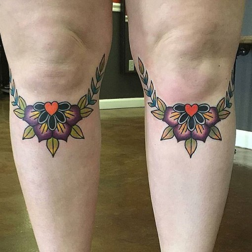 Knee Tattoos for Girls by