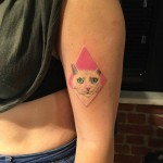cat tattoo for girls