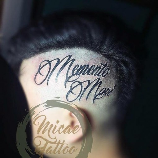 Lettering Head Tattoo