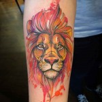 Lion Tattoo On Arm