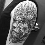 Lion  Tattoo Shoulder