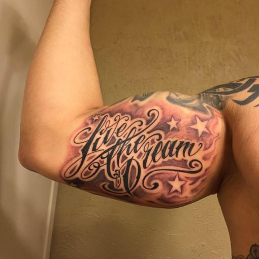 Live The Dream Tattoo at m_buentello