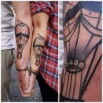 air baloons couple tattoos