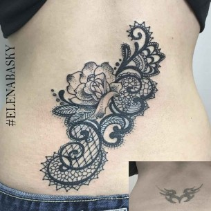 Lower Back Tattoo Cover Up