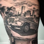 Lowrider Car Tattoo