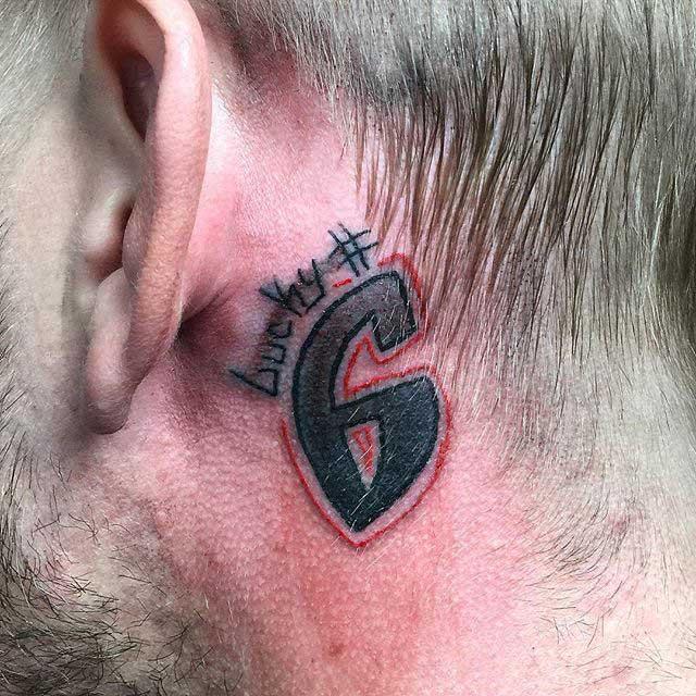 Lucky 6 Tattoo